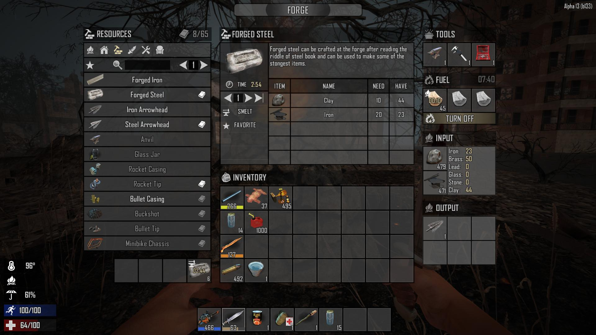 Days To Die Chainsaw Crafting
